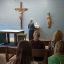 Laker students, staff, and guests venerate Bl. Solanus Casey Relic