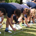 HS Students Work on Right to Life Cross Display