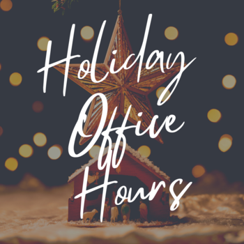 Holiday Parish Office Hours