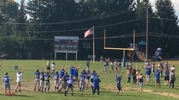 Lakes 7/8 Football wins Overtime Thriller 20-14