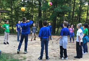 Fifth graders problem solve at Camp Tamarack