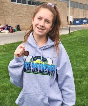 Two Lady Lakers place in CHSL Tennis Tournament