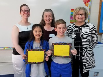 Two fifth graders take first and third in statewide writing contest
