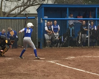 Softball splits with Bishop Foley in home opener