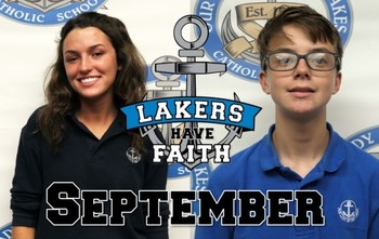 Lakers have FAITH – September Honorees