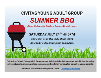 Civitas Young Adult Group Summer BBQ
