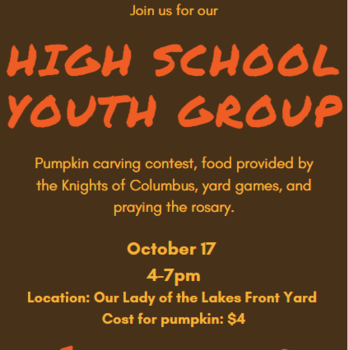 HS Youth Group Pumpkin Carving Contest