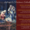Advent & Christmas Schedule 2020