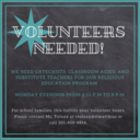 St. Matthias is in Great Need of Catechists!