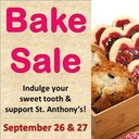Outdoor Bake Sale on Sept 26/27!