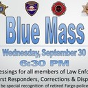 Blue Mass on Weds, Sept. 30 @ 6:30 pm