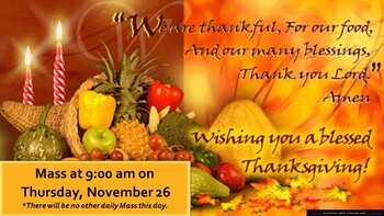 Happy Thanksgiving from St. Anthony's