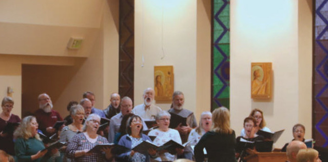 The OLOG Parish Choir sings at least four times a month at various masses and all holy days.