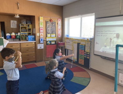 What does virtual religious ed look like in a Catholic school?