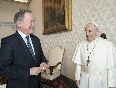Pope meets with head of World Food Program, which has been flagging crises