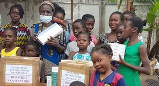 Children at Congo-Brazzaville orphanage thank Pope for help