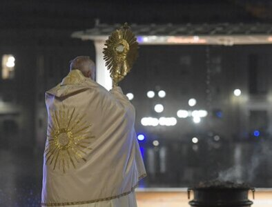 Pope 'moved' by registry of nighttime adoration he attended
