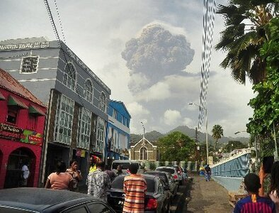 Pope offers prayers for people on Caribbean island threatened by volcano