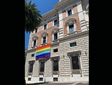 US Embassy to Vatican flies LGBT 'Pride' flag for month of June