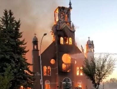 Suspected arsons continue at churches across Canada