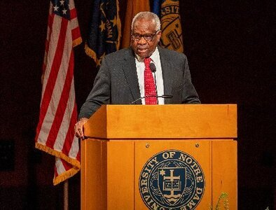 Justice Thomas in Notre Dame lecture discusses faith, modern views