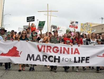 Pro-lifers gather for Virginia March for Life to show support for unborn