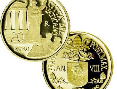 Vatican coins illustrate Bible stories, mark anniversaries