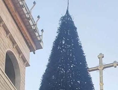 Christmas trees burned in front of two Israeli Christian churches