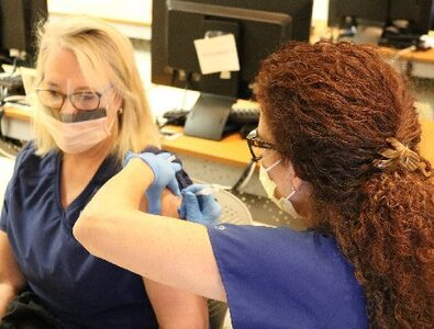 Catholic hospital staff grateful to be among first in nation to receive COVID-19 vaccine