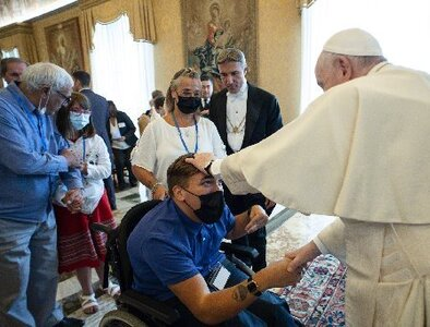Being 'different' must never lead to exclusion, discrimination, pope says
