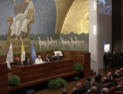 Pope at Lateran: Damage to earth threatens life itself