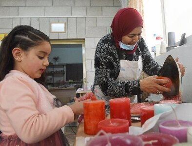 West Bank candle-making workshop helps Palestinian women support families