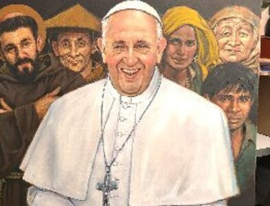 Artist calls painting portrait of pope 'a spiritually rewarding experience'
