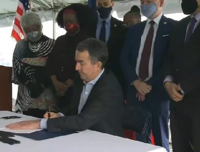 Governor signs death penalty repeal at site of 101 executions since 1991