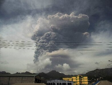 Catholics mobilize to help evacuees from La Soufrière volcano