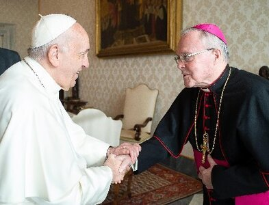 Pope accepts resignation of bishop accused of cover up