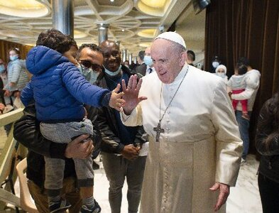 Pope celebrates name day at Vatican vaccination clinic