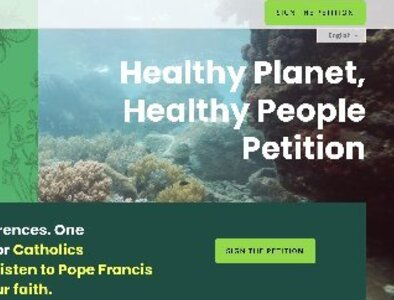 Petition launched to show Catholic support for healthy planet, people