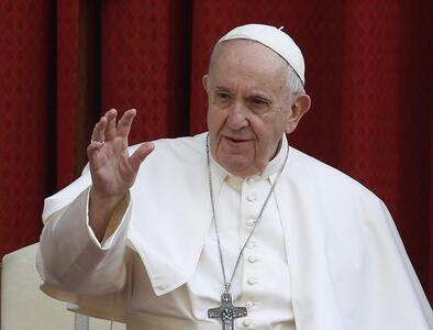 Pope launches virtual 'Fratelli Tutti' school saying priests shouldn't bless weapons