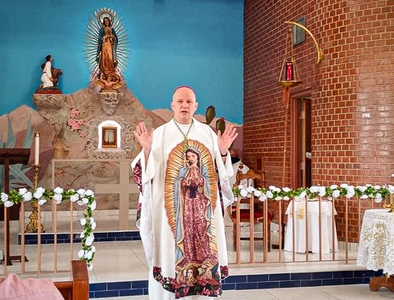 Consecration of the altar at Capilla de Guadalupe in South Tucson