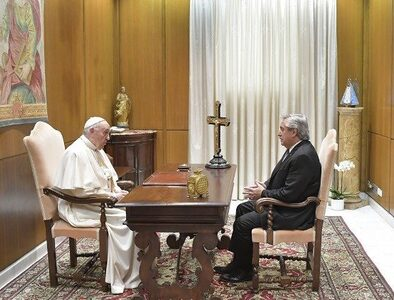 Pope Francis meets with Argentina's president