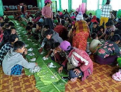 As fighting continues in Myanmar, thousands take refuge in churches