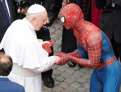 A Marvel-ous encounter: Pope Francis meets Spiderman
