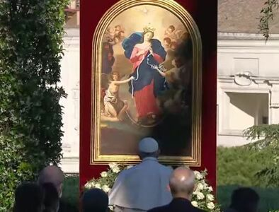 Pope Francis turns to Mary, Undoer of Knots, at end of rosary marathon for end to pandemic