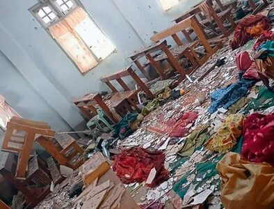 Another church shelled by Myanmar's military