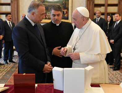 Pope receives Prime Minister of Iraq in the Vatican