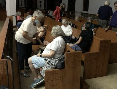Catholic church in New Orleans is emergency shelter during Hurricane Ida