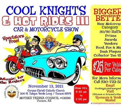 Cool Knights & Hot Rides III - Car & Motorcycle Show