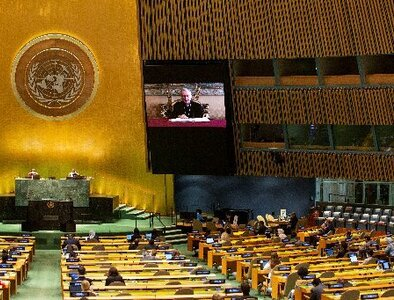Hope, unity needed in world torn by division, cardinal tells U.N.