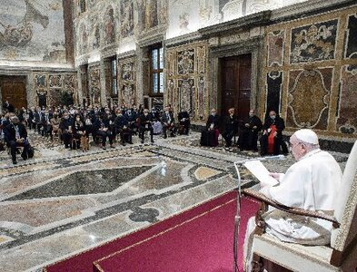 Defend life, promote access to health care for all, pope says